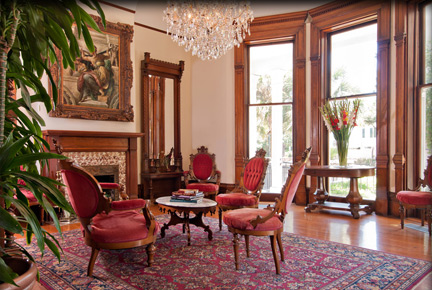 Interior of a New Orleans Garden District Bed and Breakfast