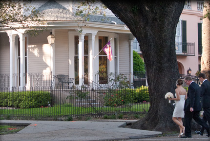 New Orleans Wedding at a Bed and Breakfast