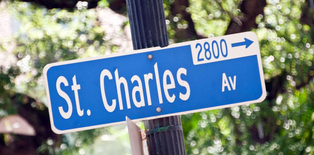 St. Charles Street sign