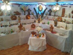 Altar at Innkeeper Bonnie's family's home