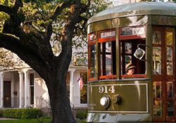 Take a historic Garden District Trolly ride in New Oreans
