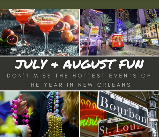 hot summer events in New Orleans
